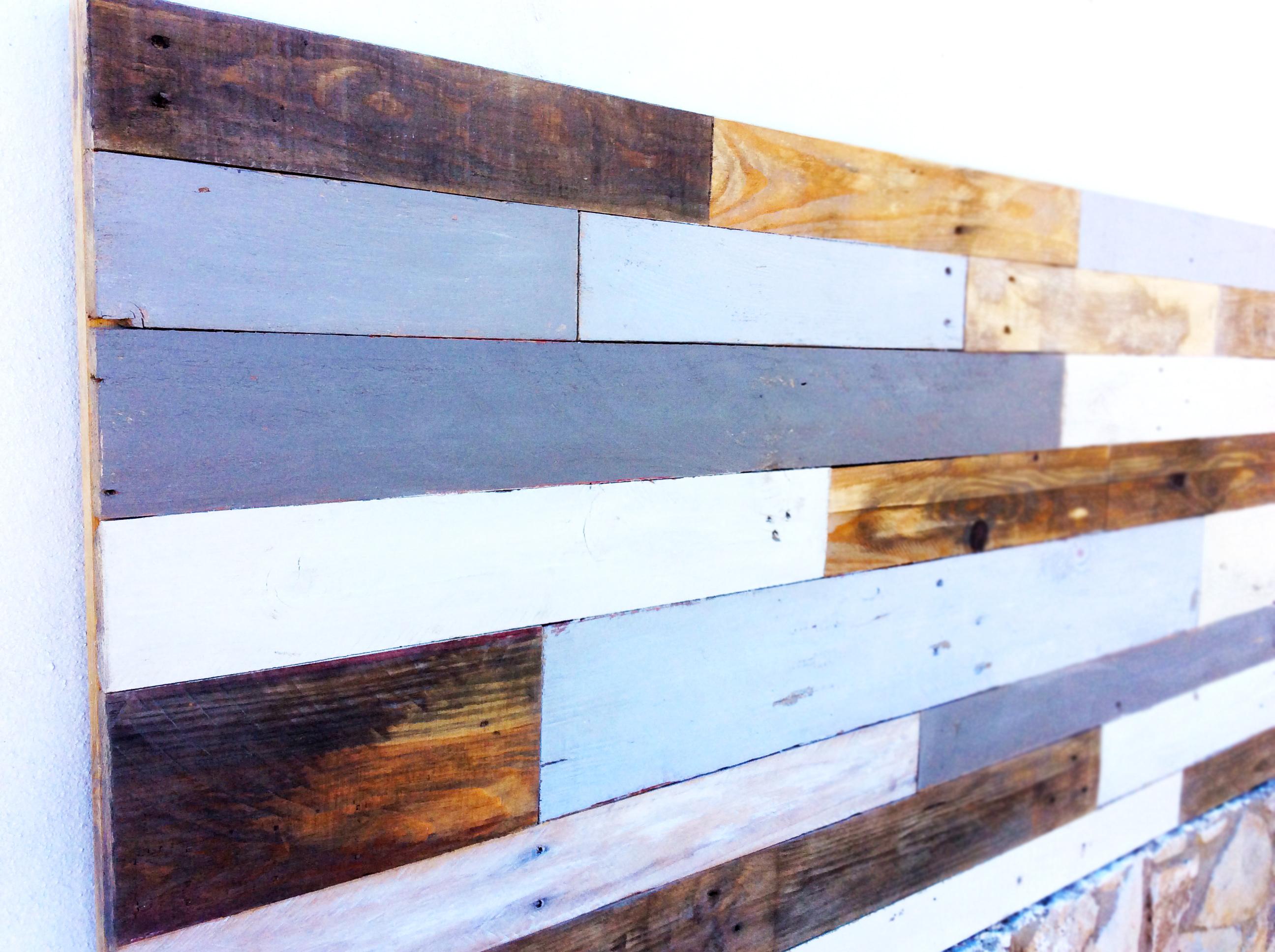 Pallete boys wooden headboard